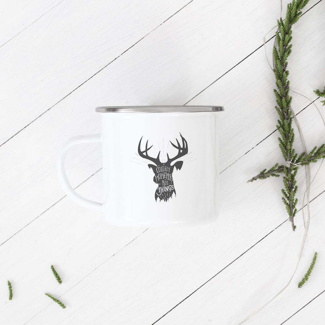 Collect moments not things - Enamel Mug