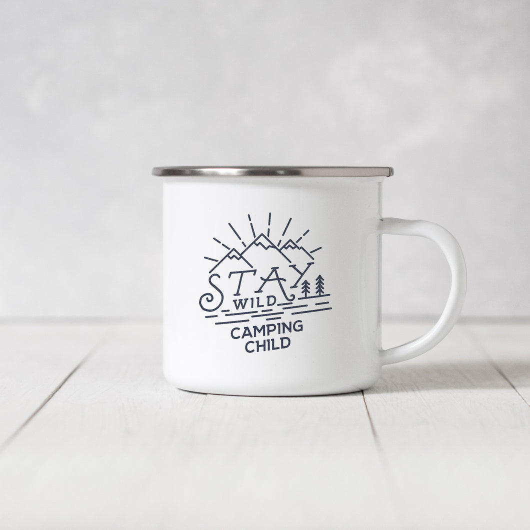 Stay Wild Camping Child - Enamel Mug