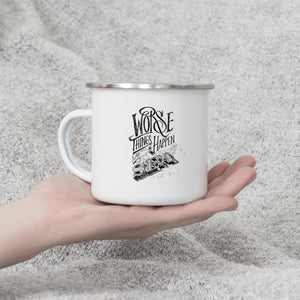 Worse things happen at sea - Enamel Mug - Sovende Bjorn