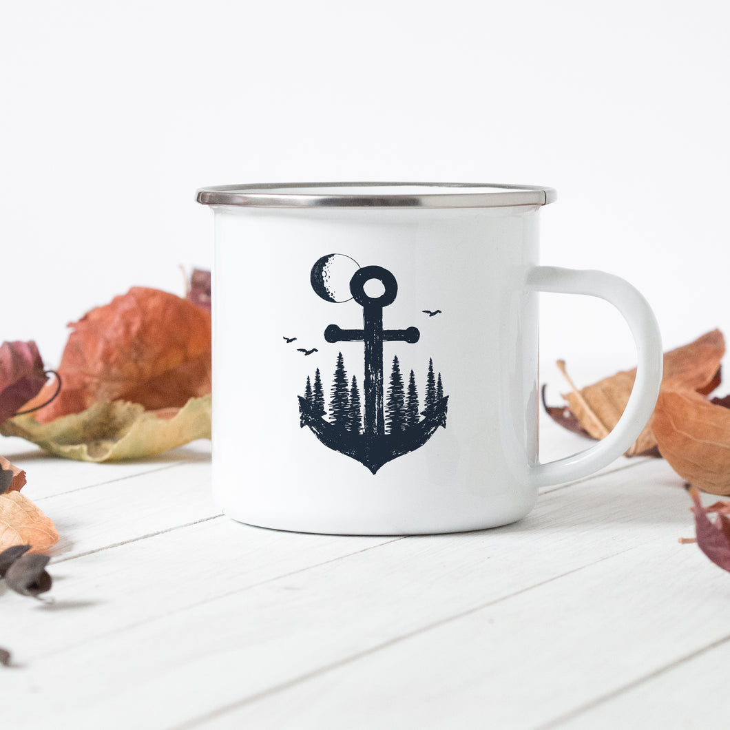 Moon Anchor - Enamel Mug - Sovende Bjorn