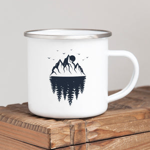 Mountain Reflections - Enamel Mug - Sovende Bjorn