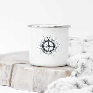 Not All Those Who Wander Are Lost - Enamel Mug - Sovende Bjorn