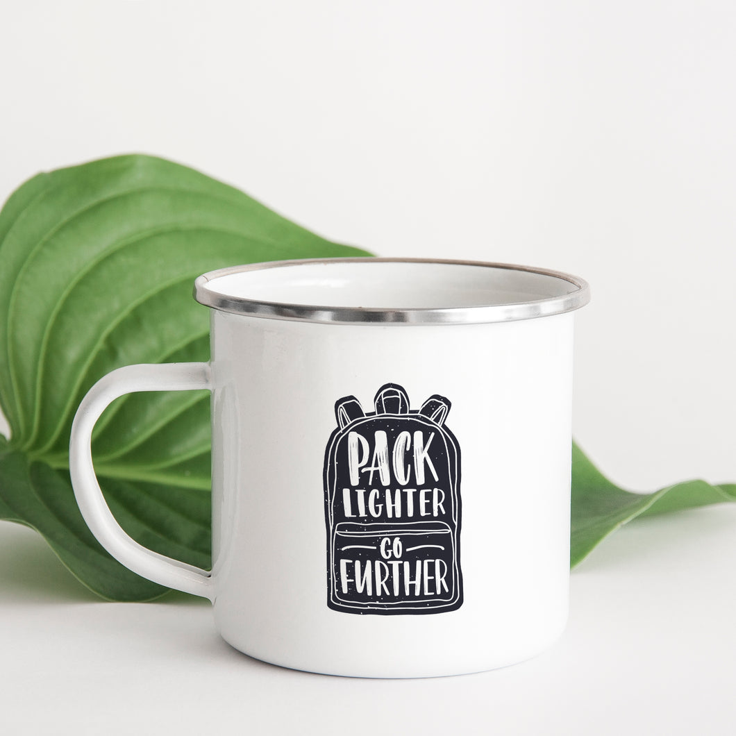 Pack lighter and go further - Enamel Mug