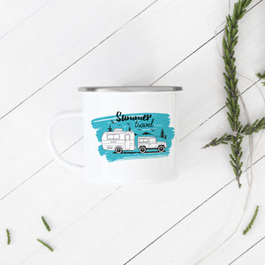 Summer Travel - Enamel Mug - Sovende Bjorn