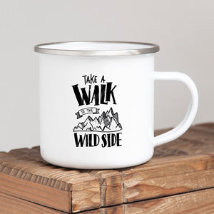 Take a walk on the wild side - Enamel Mug - Sovende Bjorn