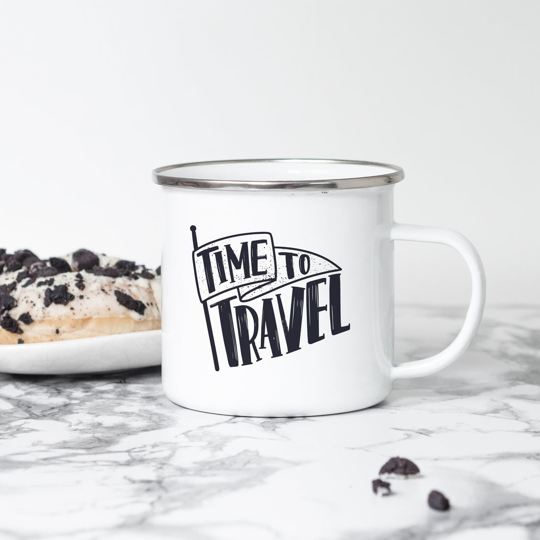 Tme to Travel - Enamel Mug