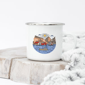 Mountain Harbour - Enamel Mug - Sovende Bjorn