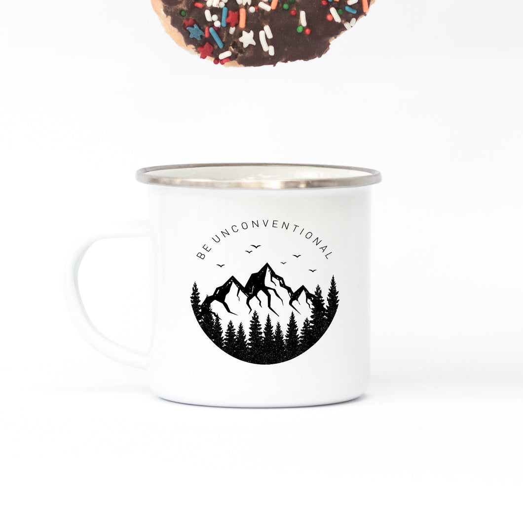 Be Unconventional - Enamel Mug - Sovende Bjorn