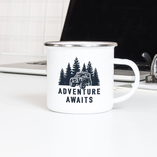 Adventure Awaits 4x4 - Enamel Mug