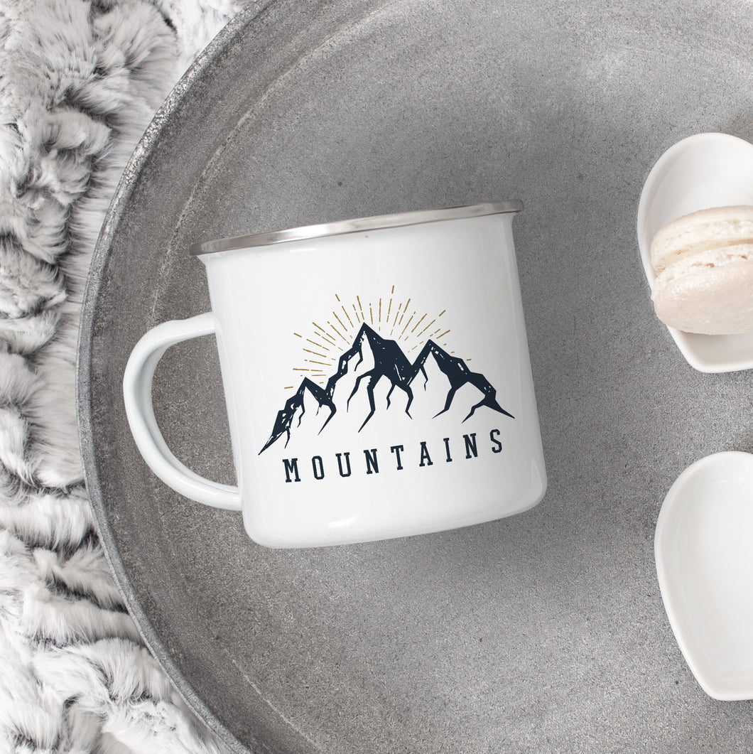 Mountains - Enamel Mug - Sovende Bjorn