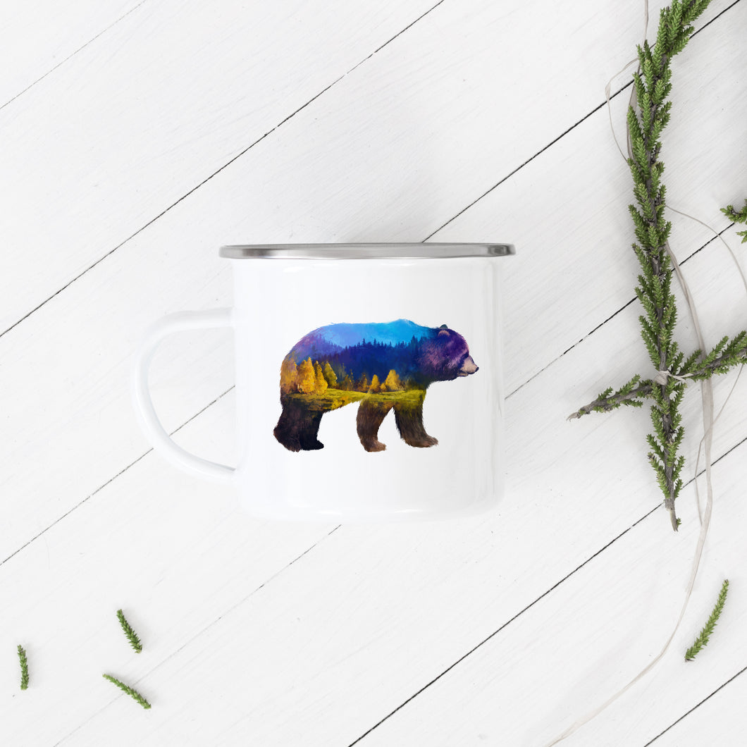 Mountain Bear - Enamel Mug - Sovende Bjorn