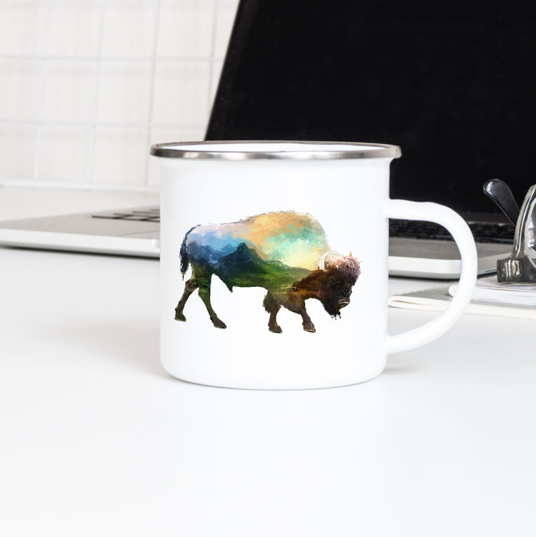 Mountain Buffalo - Enamel Mug - Sovende Bjorn
