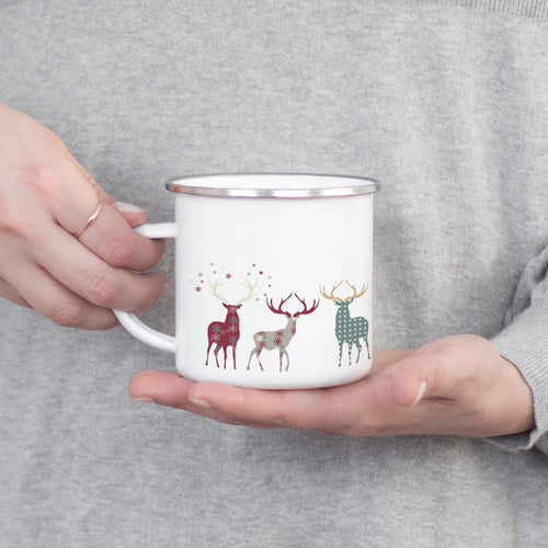Highland Fling - Christmas Enamel Mug