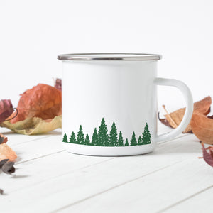 Green Pines - Enamel Mug