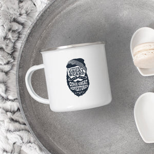 With Great Beard Come Great Adventures - Enamel Mug - Sovende Bjorn