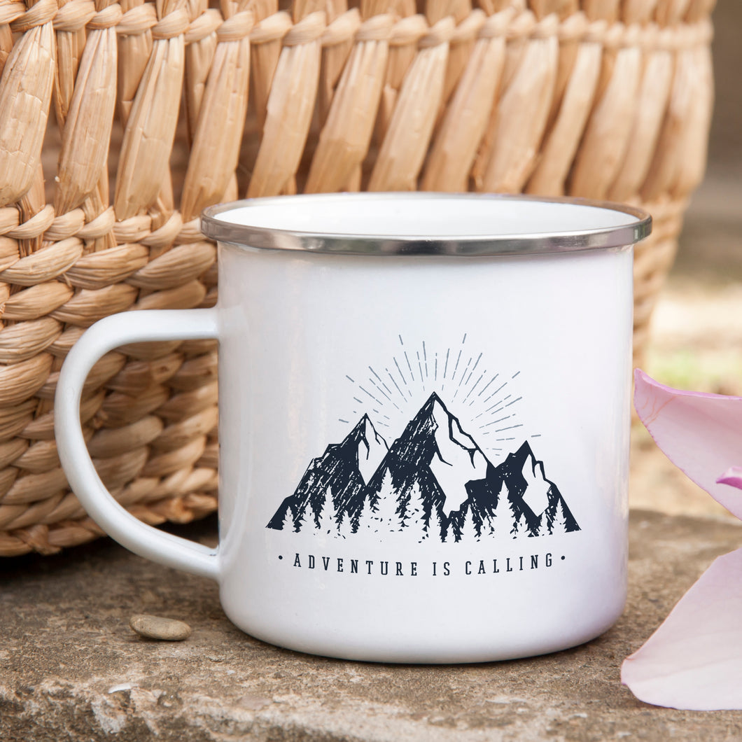Adventure is Calling - Enamel Mug - Sovende Bjorn