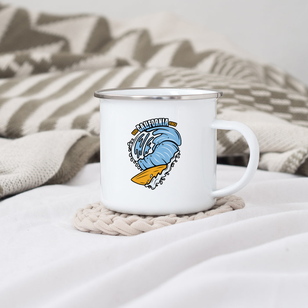 California - Enamel Mug