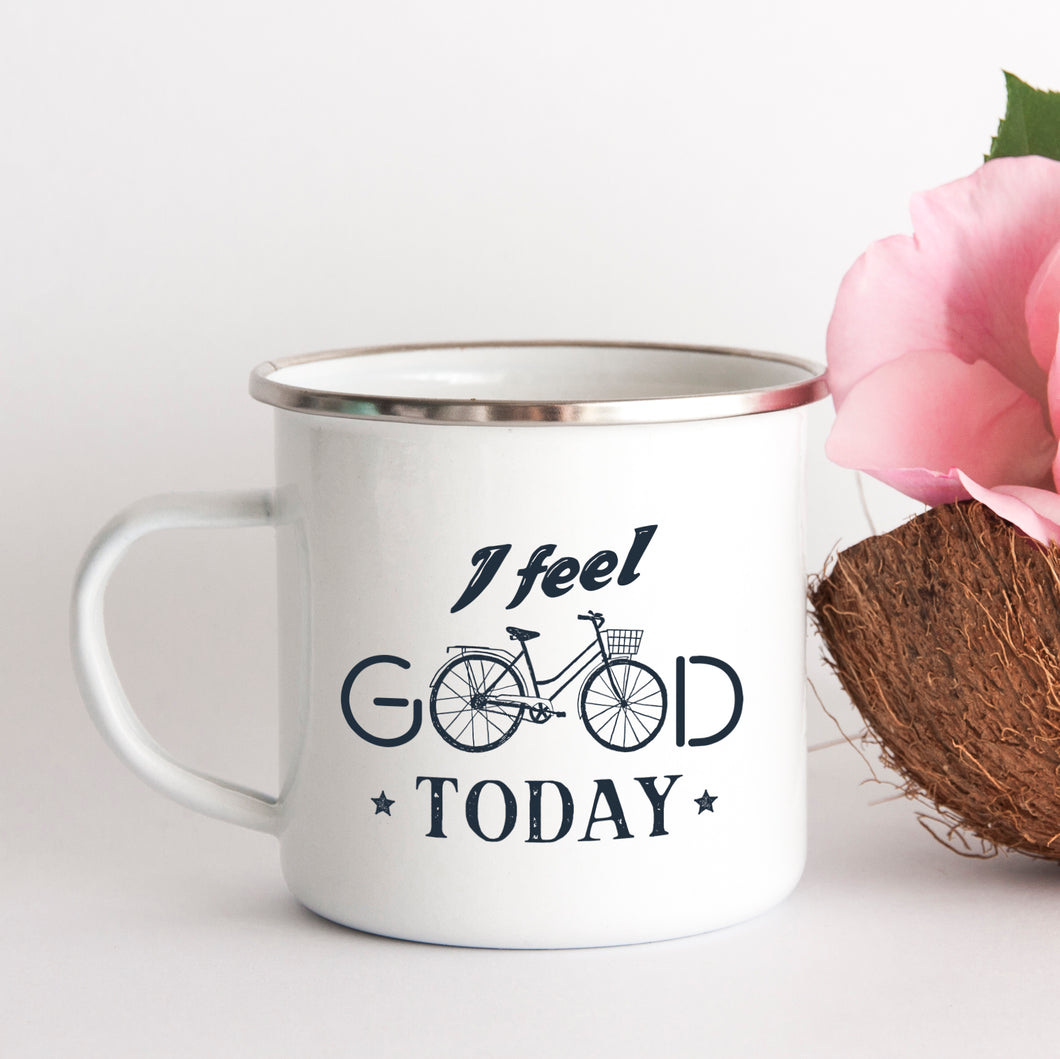 I Feel Good today - Enamel Mug - Sovende Bjorn