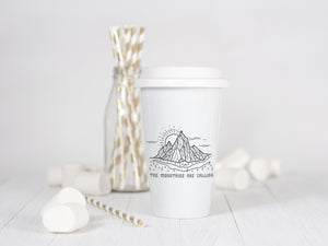 The Mountains are Calling - Ceramic Travel Mug - Sovende Bjorn
