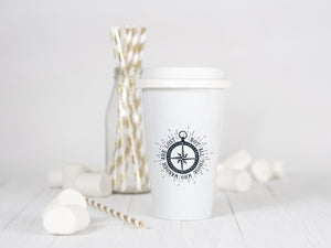 Not all those who wander are lost - Ceramic Travel Mug - Sovende Bjorn