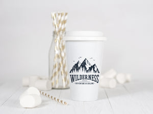 Wilderness, Adventure is Calling - Ceramic Travel Mug - Sovende Bjorn
