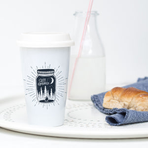 Less is more - Ceramic Travel Mug - Sovende Bjorn