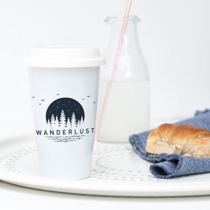 Wanderlust Moon - Ceramic Travel Mug - Sovende Bjorn