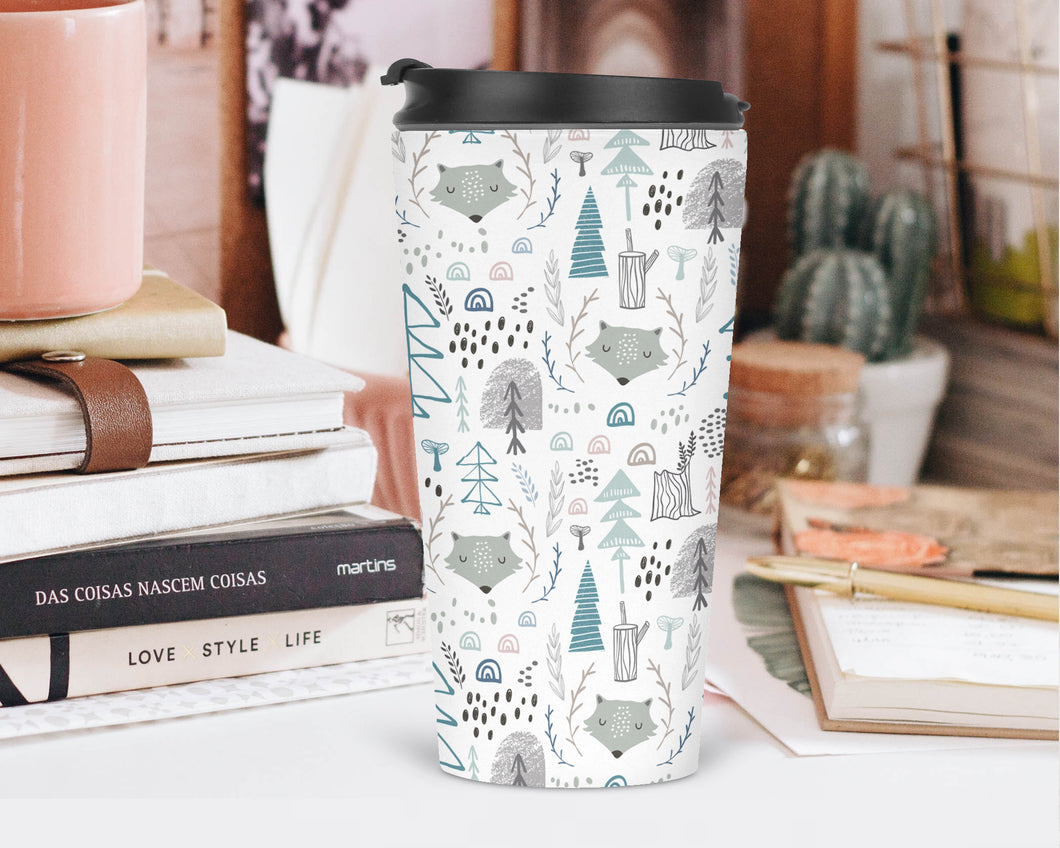 Grey Wolves in the Woods Travel Tumbler - Sovende Bjorn