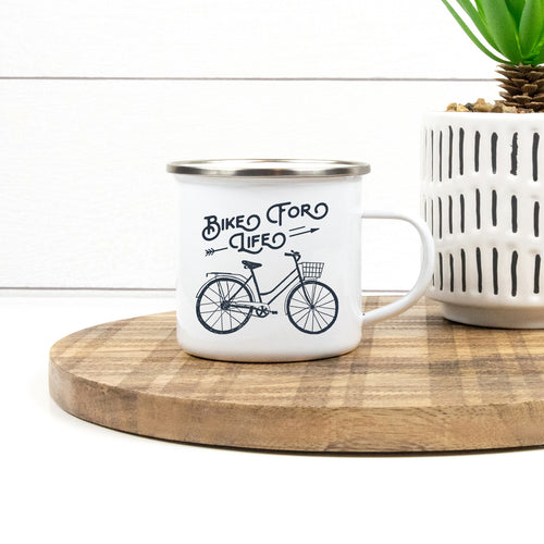 Bike For Life - Enamel Mug - Sovende Bjorn