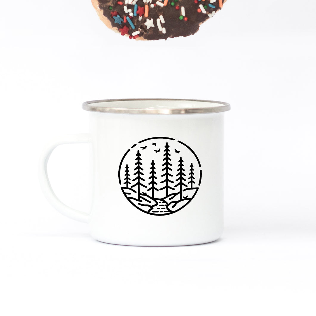Forests  - Enamel Mug - Sovende Bjorn