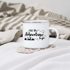 Let the Adventure Begin - Enamel Mug - Sovende Bjorn