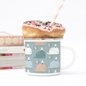 Whaley Good Time - Enamel Mug - Sovende Bjorn