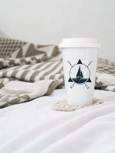 Sail Boat  - Ceramic Travel Mug - Sovende Bjorn