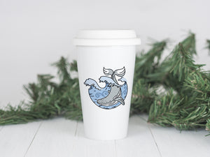 Whale - Ceramic Travel Mug - Sovende Bjorn