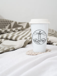 Lighthouse - Ceramic Travel Mug - Sovende Bjorn
