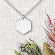 Load image into Gallery viewer, Cactus Hexagon Pendant Necklace - Sovende Bjorn