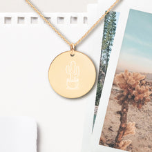 Load image into Gallery viewer, Cactus Round Pendant Necklace - Sovende Bjorn