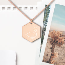 Load image into Gallery viewer, Swan Hexagon Pendant Necklace - Sovende Bjorn