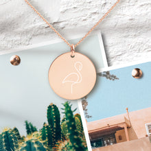 Load image into Gallery viewer, Flamingo Pendant Necklace - Sovende Bjorn