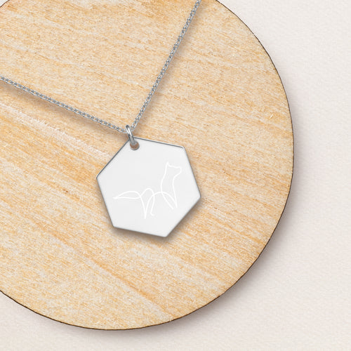 Fox Hexagon Pendant Necklace - Sovende Bjorn