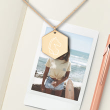 Load image into Gallery viewer, Horse Hexagon Pendant Necklace - Sovende Bjorn