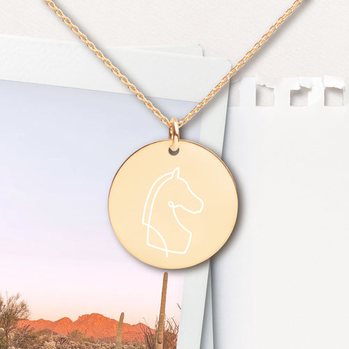 Horse Pendant Necklace - Sovende Bjorn