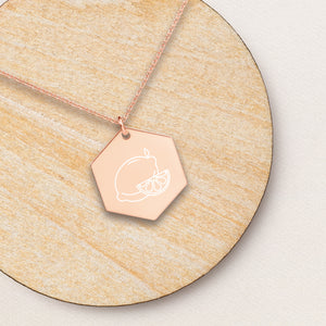 Lemon Hexagon Pendant Necklace - Sovende Bjorn