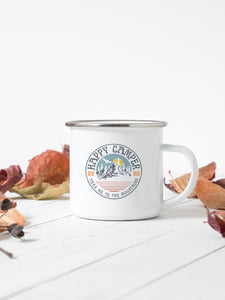 Happy Camper, Take Me To The Mountains - Enamel Mug - Sovende Bjorn