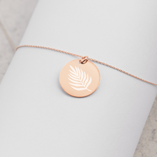 Load image into Gallery viewer, Palm Leaf Pendant Necklace - Sovende Bjorn