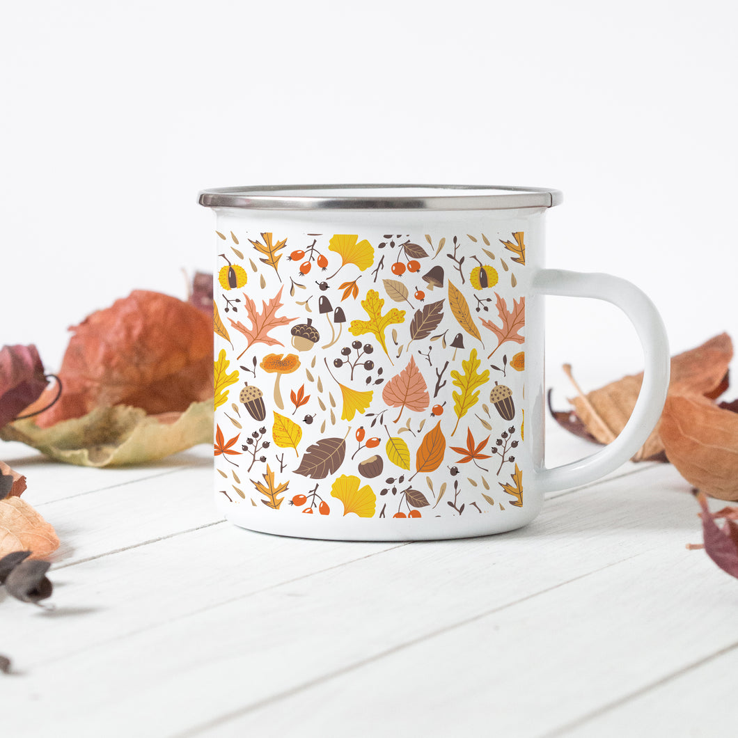 Autumn Leaves - Enamel Mug - Sovende Bjorn