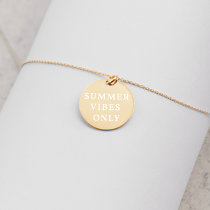 Summer Vibes Only Pendant Necklace - Sovende Bjorn