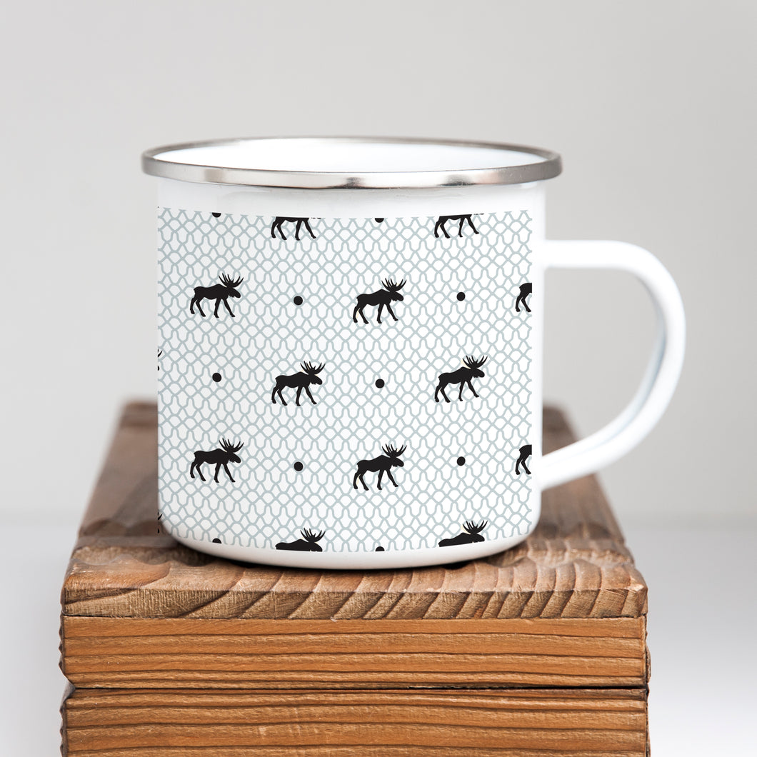 Winter Woods Christmas Enamel Mug