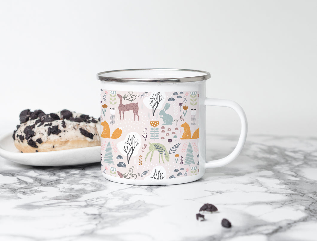 Christmas in the forest - Christmas Enamel Mug