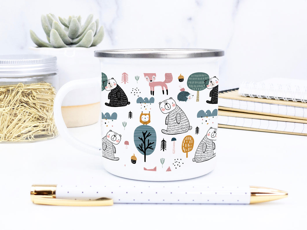 Bears in the Woods - Enamel Mug